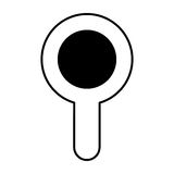 Search magnifying glass icon Stock Image
