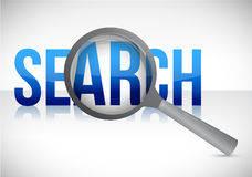Search with magnifying glass illustration design Royalty Free Stock Images