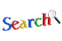 Search with magnifying glass Stock Images