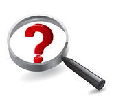 Search Magnifying Questions Stock Images