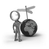 Search-Man - Directions Royalty Free Stock Photos