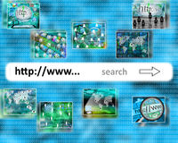 Search. Many abstract images on the theme of computers, Internet and high technology Royalty Free Stock Photos
