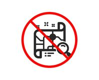 Search map icon. Find location address sign. Vector. No or Stop. Search map icon. Find location address sign. Prohibited ban stop symbol. No search map icon royalty free illustration