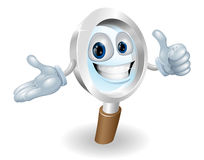Search mascot character illustration. Search magnifying glass character illustration, he'll help you find anything you need Royalty Free Stock Image