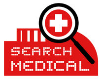 Search medical. Creative design of search medical Stock Images