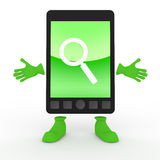 Search / Mobile Phone / Smartphone. Search using a mobile phone. A simple cell phone. Many can be used conveniently. Tools that can be shared with others Royalty Free Stock Photography