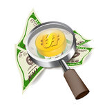 Search money of Magnifier vector design business concept Royalty Free Stock Photos