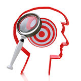 Search for new targets royalty free stock photo