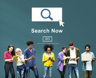 Search Now Exploration Discover Searching Finding Concept Stock Photo