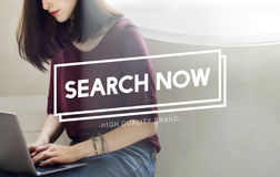Search Now Searching Looking For Information Concept Royalty Free Stock Images