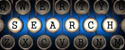 Search on Old Typewriter's Keys. Royalty Free Stock Photo