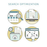 Search optimization concept Royalty Free Stock Images