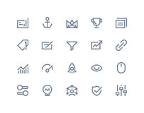 Search Optimization Icons. Line Series Stock Photos