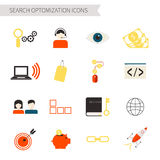 Search Optimization Icons Stock Photos