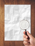 Search in paper Stock Image