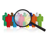 Search for people Royalty Free Stock Image