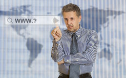 Search perfect business Stock Image
