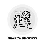Search Process Line Icon Stock Photography