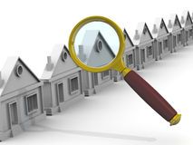 Search and purchase real estate. Concept Stock Photography