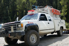 Search & Rescue 1. A search and rescue vehicle on duty in the Rocky  Mountains of Colorado Stock Photo
