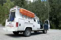 Search & Rescue 4. A search and rescue vehicle on duty in the Rocky  Mountains Royalty Free Stock Photos