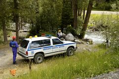Search & Rescue 5. A search and rescue vehicle on duty in the Rocky Mountains Stock Photography