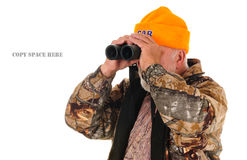 Search & Rescue guy looking with bino's Stock Images