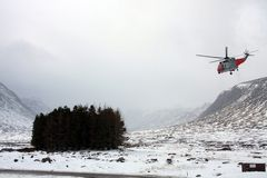 Search and rescue helicopter Stock Image