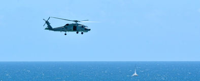 Search and rescue helicopter Royalty Free Stock Images