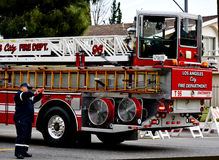 Search and Rescue Photographing Firemen Stock Photo