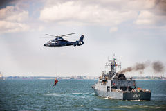 Search and rescue SAR mission on the sea Royalty Free Stock Photography