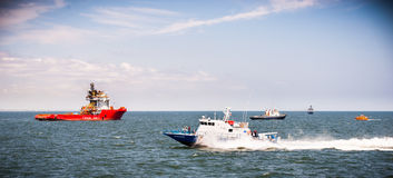 Search and rescue SAR mission on the sea Royalty Free Stock Image