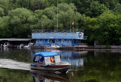 Search and rescue station on the Moscow river. Stock Images