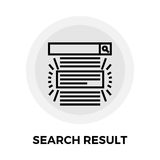 Search Result Line Icon Royalty Free Stock Images