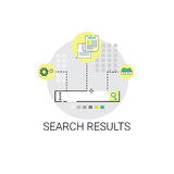 Search Result Web Data Business Icon. Vector Illustration Royalty Free Stock Photography