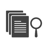 Search Results. Search, results, analysis icon vector image. Can also be used for software development. Suitable for use on web apps, mobile apps and print media Stock Photography