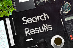 Search Results - Text on Black Chalkboard. 3D Rendering. Stock Photo
