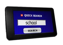 Search for school Royalty Free Stock Photography
