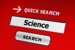 Search for science Stock Image