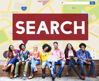 Search Searching Exploration Discover Inspect Finding Concept Stock Photo