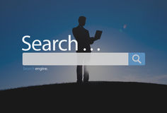 Search Seo Online Internet Browsing Web Concept.  Royalty Free Stock Photo