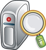 Search server icon Royalty Free Stock Photo