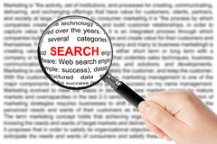 Search sign Stock Image