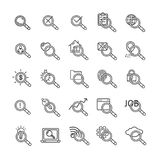 Search Signs Black Thin Line Icon Set. Vector. Search Signs Black Thin Line Icon Set Element for Web Design Include of Cloud, Key, Email and Lamp. Vector Stock Photography