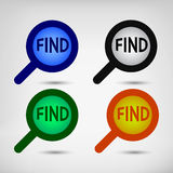 Search signs set Stock Photography