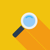 Search single flat icon. Royalty Free Stock Images