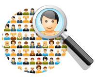 Search in social network Royalty Free Stock Photo