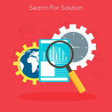Search for Solution concept with infographic elements. Stock Photography