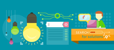 Search for solutions infographics Stock Photography