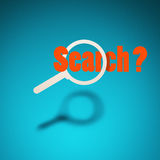 Search for something. Stock Photo